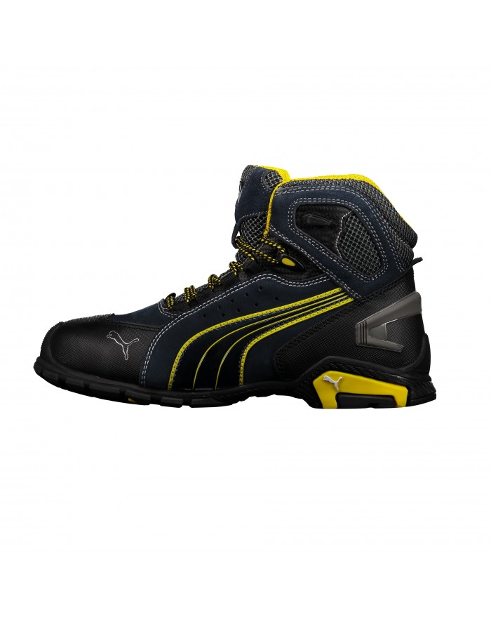 Bota tenis puma seguridad azul amarillo urban outdoor for Tenis de seguridad